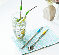 Assorted Drinkware, # ml Reusable Stainless Steel Juice Milk Straws