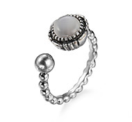 Ring Steel Simple Style Fashion White Jewelry Daily 1pc
