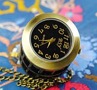 Reloj de Bolsillo Cuarzo Aleación Banda Bronce Bronce