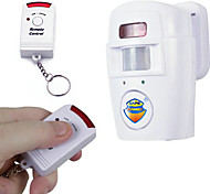 SAFEARMED HDE Infrared Motion Sensor Home Security Safety Alarm with Key Chain Remote Control