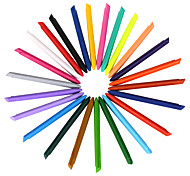 24 Colors Plastic Crayons 1 Set of 24 PCS