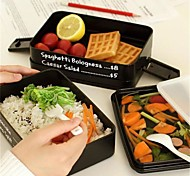 1Pcs The Microwave Lunch Box Three-Layer Rectangle Lunch Box Container Eco-Friendly Lunchbox Bento Container For Food Dinnerware Sets
