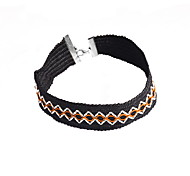 Women's Choker Necklaces Jewelry Nylon Round Fashion Personalized Euramerican Simple Style Black Jewelry Daily Casual 1pc