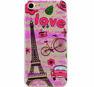For Eiffel Tower Pattern Soft TPU Material Phone Case for iPhone 7 Plus 7
