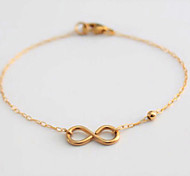 Single infinity Chain Bracelet Alloy Movie Jewelry Handmade Bohemia Wedding Party Birthday Engagement Christmas Gifts Jewelry GiftGold