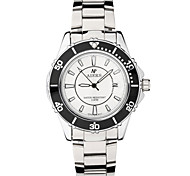 Men's Dress Watch Quartz Alloy Band Silver