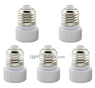 E27 to GU10 Adapter Converter Base Holder Socket for LED Light Lamp (5 Pieces)