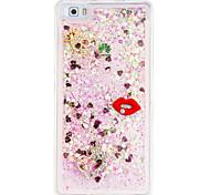 For Huawei p9lite DIY Rhinestone Case Back Cover Case Red Lip Soft TPU for P8 Lite