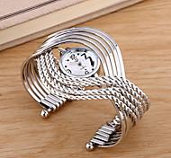 Fashion Watch Quartz Alloy Band Black Silver Gold Strap Watch