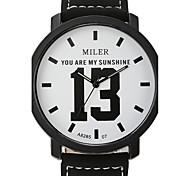 Big Digital Han Edition Tide Student Strap Watch