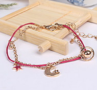 Bracelet Charm Bracelet Alloy Lace Star Others Fashion Birthday Gift Valentine Christmas Gifts Jewelry Gift Gold Black Red,1pc