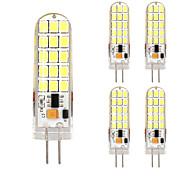 5pcs g4 30LED smd2835 ac / DC12V 9w 1500lm blanc chaud / blanc la haute qualité à double broche lampe étanche gradateur