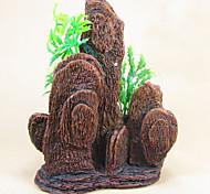 художественное оформление аквариума камни искусственная гора моделирование