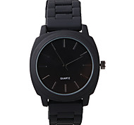 Unisex Fashion Watch Quartz / Silicone Band Casual Black Brand