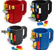 Novelty Drinkware, 350 ml BPA Free Plastic Coffee Milk Coffee Mug Toy block Mugs
