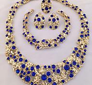 Schmuck 1 Halskette 1 Paar Ohrringe 1 Armreif 1 Ring Ring Ohrringe Set Halskette / Armband KristallEinzigartiges Design Modisch