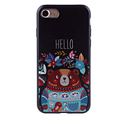 For IPhone 7 Pattern Case Back Cover Case Cute Bear Pattern  for IPhone 6s 6 Plus SE 5s 5 4s 4 5C