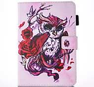 For IPad 234 Case Cover Butterfly Owl Pattern PU Skin Material Flat Protective Shell