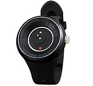 Men's Fashion Watch Quartz Rubber Band Black