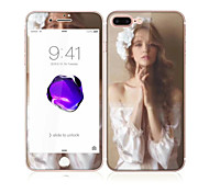 For Apple iPhone 7 4.7 Tempered Glass with Soft Edge Full Screen Coverage Front and Back Screen Protector Sexy Lady Pattern