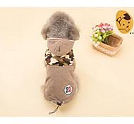 Perros Abrigos Ropa para Perro Adorable Casual/Diario Un Color Marrón
