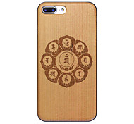 Change Destiny Chinese idioms Hard Back Cover iphone Wood Case for iPhone 7plus iphone 6s 6Plus SE 5s