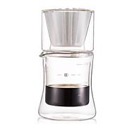 200 de vidro set máquina de café, 2 xícaras de gotejamento cafeteira reutilizável
