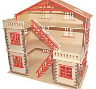 Puzzle Kit fai-da-te Costruzioni Puzzle 3D Gioco educativo Puzzle Modellini di legno Costruzioni Giocattoli fai da teQuadrata Edificio