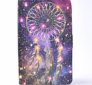 For Samsung Galaxy Tab T580 T350 PU Leather Material Wind Chimes Pattern Painted Flat Protective Cover T550 T560 T280