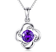 Pendants Crystal Crystal Zircon Cubic Zirconia Simulated Diamond Basic Flower Style Blue Jewelry Daily Casual 1pc