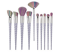 10pcs Contour Brush Makeup Brush Set Blush Brush Eyeshadow Brush Lip Brush Concealer Brush Fan Brush Foundation Brush Synthetic Hair