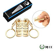 UKing ZQ-X989X2 2PCS Mini LED Love Aluminum Love Flashlight Waterproof IPX-4 with Keychain