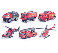 Fire Engine Vehicle Vehicle Playsets 1:87 Metal Plastic Red