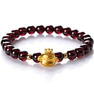 Strand Bracelet Crystal Crystal Gem Natural Fashion Jewelry Dark Red Jewelry 1pc