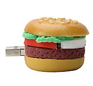 16GB Hamburger Rubber USB2.0 Flash Drive Disk