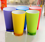 Colored Drinkware, 250 ml Decoration Plastic Juice Water Tea Cup