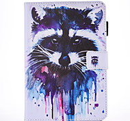 For IPad Air 2  IPad Air Case Cover Raccoon Pattern PU Skin Material Flat Protective Shell