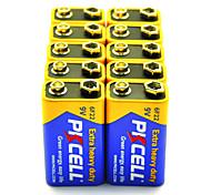 Pkcell 6F22 9V batteria zinco-carbone 10 pack pesante in più