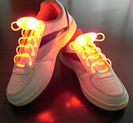 Night Running Flash LED Lights Trend Glowing Flashing Fluorescent Luminous Battery Shoelace Creative Children Birthday Gifts