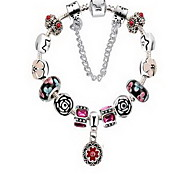 Chain Bracelet Crystal Crystal Natural Jewelry Black Red Pink Light Blue Jewelry 1pc