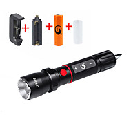 UKing ZQ-X984#-US Cree XM-L T6 2000LM 5Modes Zooming Flashlight Torch Kit with Attack  Head