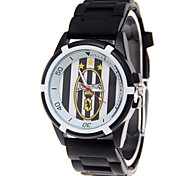 Fashion Watch Quartz PU Band Black White