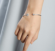 SILVERAGE Sterling Silver Dice Adjustable Cuff Bracelet