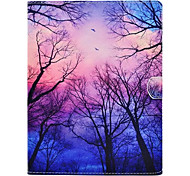 Para Com Suporte Estampada Capinha Corpo Inteiro Capinha Árvore Rígida Couro PU para Apple iPad 4/3/2