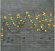raylinedo® 1 Stück 4 Meter, gelb, orange und grün Papiergirlande für 7 Form Dekoration Herz Weihnachtsfest-Hochzeit Geburtstag * 7cm