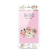 For Apple iPhone 7 4.7 Tempered Glass Screen Protector with Soft Edge Full Screen Coverage Front Screen Protector Cartoon Flowers Pattern