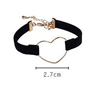 Bracelet Leather Bracelet Alloy Leather Heart Others Fashion Birthday Gift Valentine Christmas Gifts Jewelry Gift Gold Yellow Brown Pink,