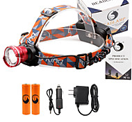 U'King® ZQ-X830R#1-EU CREE XML-T6 LED 2000LM Zoomable 180 Rotate 3Modes Headlamp Bike Light Kits with Rear Safety LED