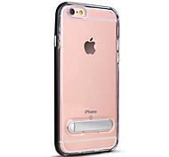 Para Com Suporte Translúcido Capinha Capa Traseira Capinha Cor Única Rígida PC para AppleiPhone 7 Plus iPhone 7 iPhone 6s Plus iPhone 6