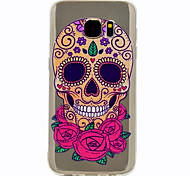 For Samsung Galaxy S8 Plus S7 Skull Pattern Soft TPU Material Phone Case for S6 S8